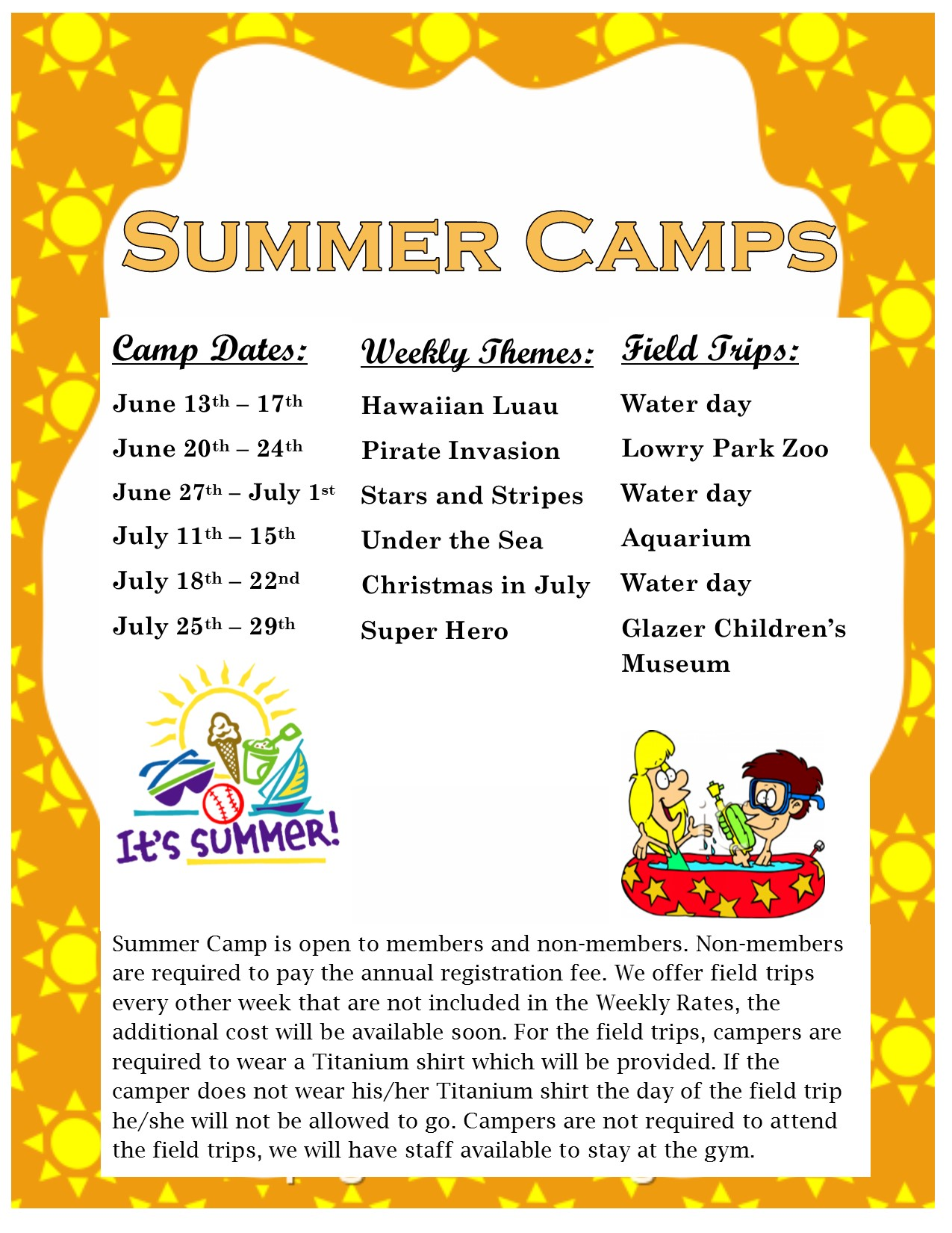 summer camp themes 2016 1